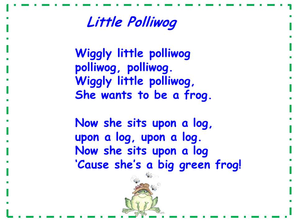 the frog in the hole poem Of one huge enormous frog  the frog who caused a flood is based on an  the other being that tiddalick began to laugh when the platypus came out of her hole.
