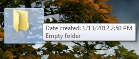 creating an unnamed folder