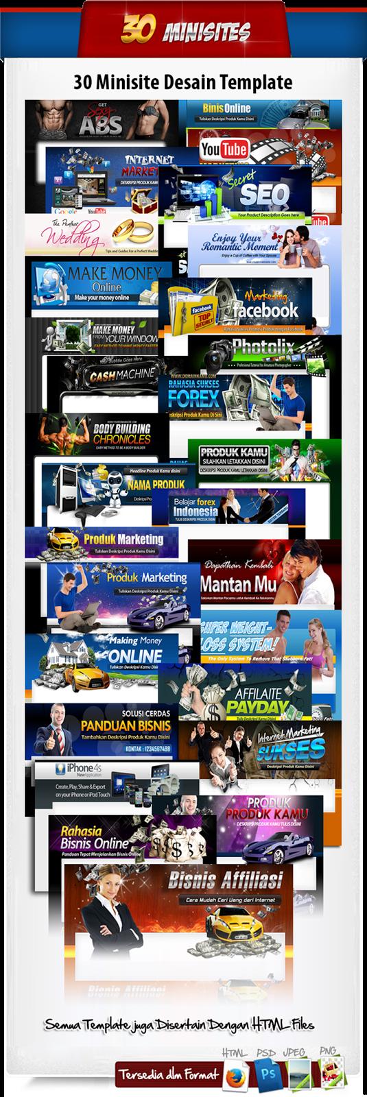 30 Template Minisite Blogspot Profesional Harga Murah