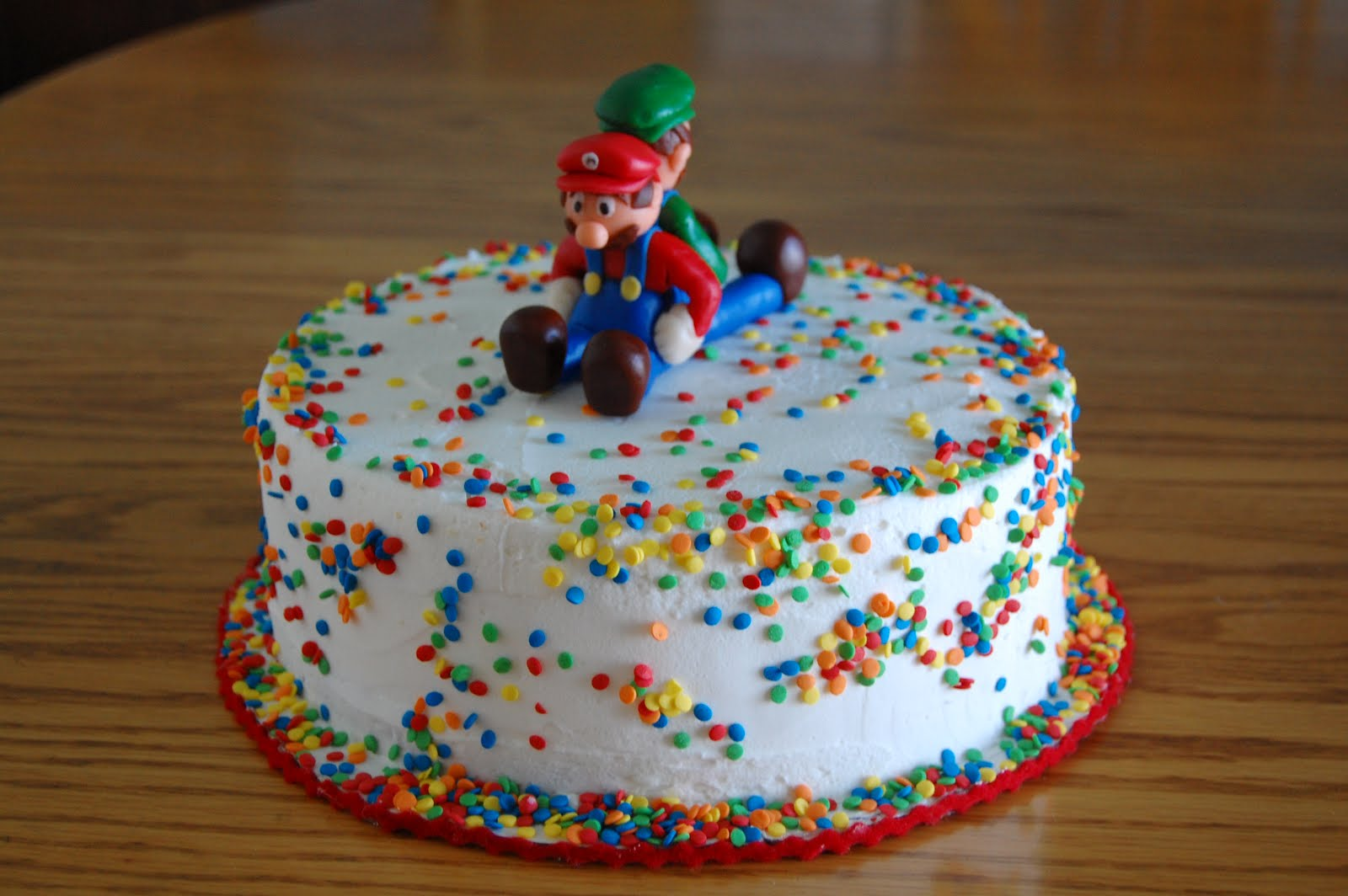 Ice Cream Cake Edible Image : Edible Elegance: Mario & Luigi Ice cream cake