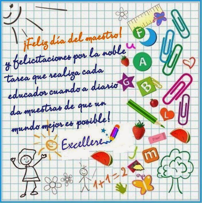 FELICIDADES A TODOS LOS MAESTROS !!!