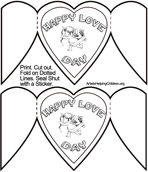 how to make cupid valentines day cards holiday crafts for kids free printable valentines day cards templates - Valentine Templates Printable