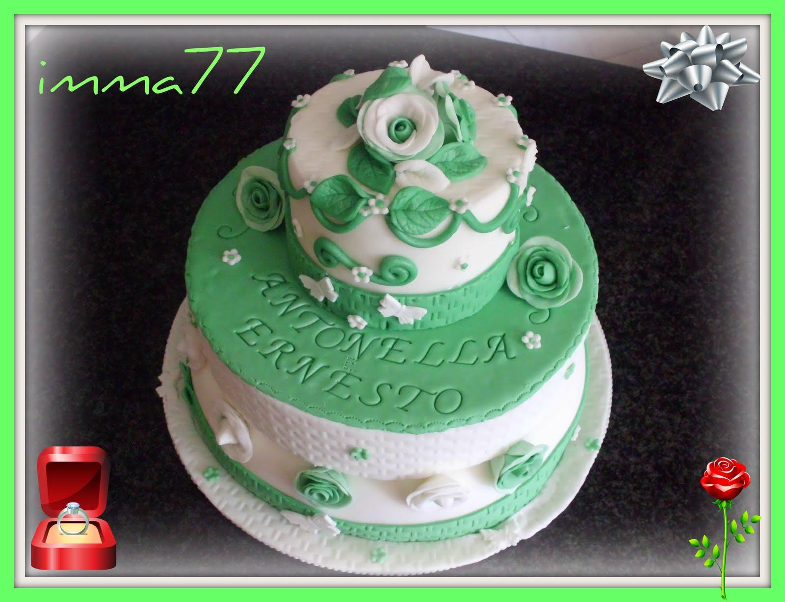 Eccezionale dolcemania di imma77: torta promessa di matrimonio PZ86