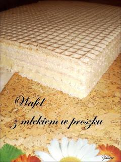 Wafel z mlekiem w proszku
