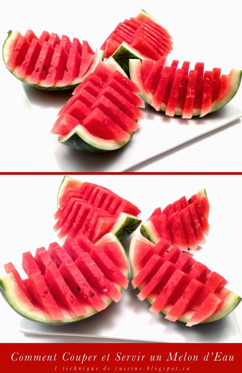 Technique culinaire comment couper et servir un melon d 39 eau past que blogs de cuisine - Comment faire murir un melon ...