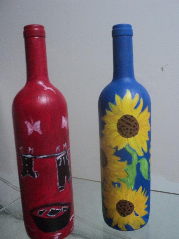 Blogg ecologista como decorar con botellas de vidrio - Decorar botellas de cristal ...