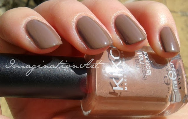 kiko 322 caffelatte smalto swatches swatch review recensione nail polish lacquer unghie marrone brown