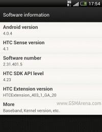 Aggiornamento android 4.0.4 per Htc One S