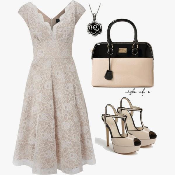 Vestido De Encaje Color Hueso ~ Vestidos De Moda Para Fiesta
