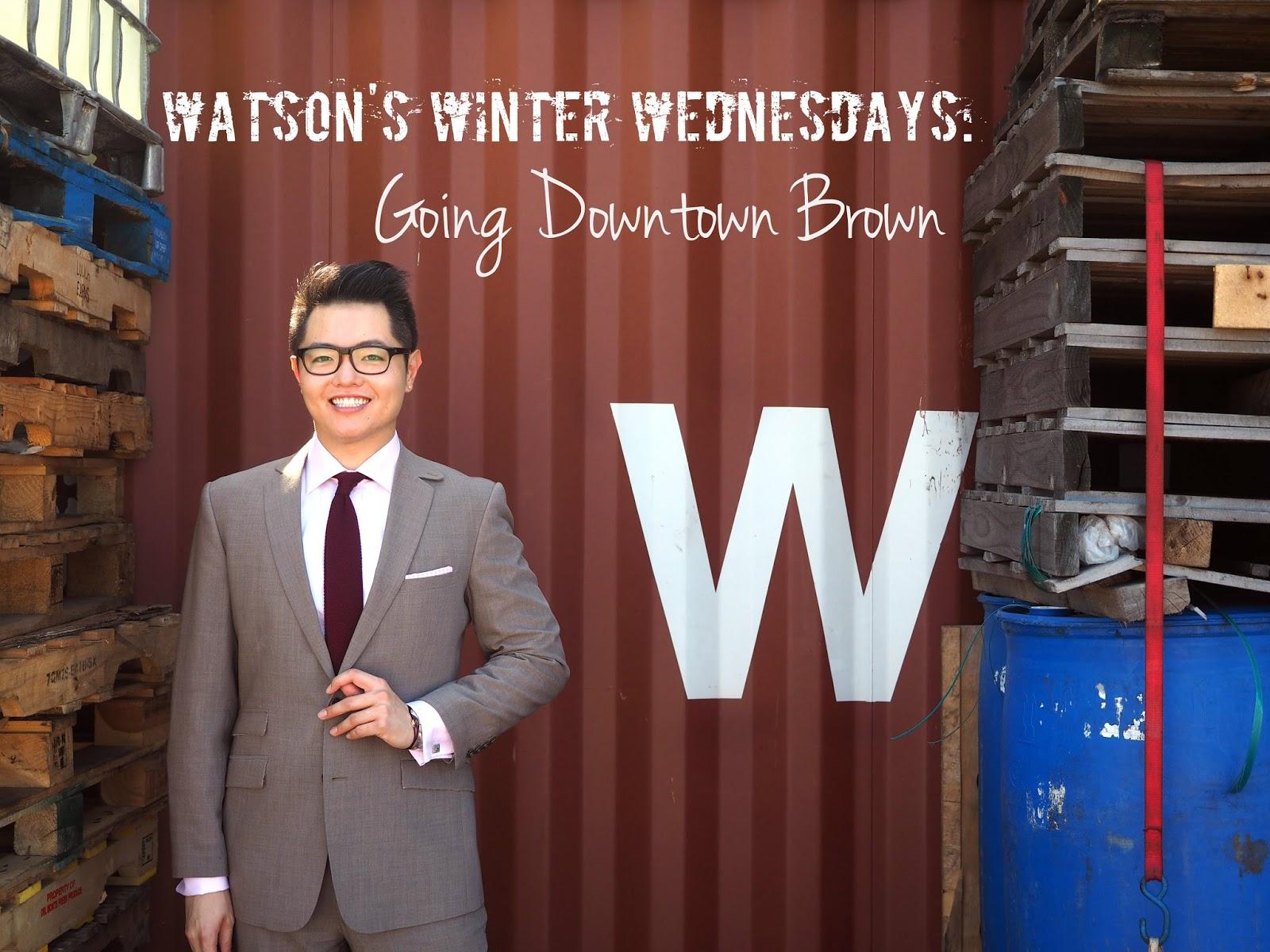 Watsons Winter Wednesday Brown Suit tie shirt professional work clothes men gentlemen