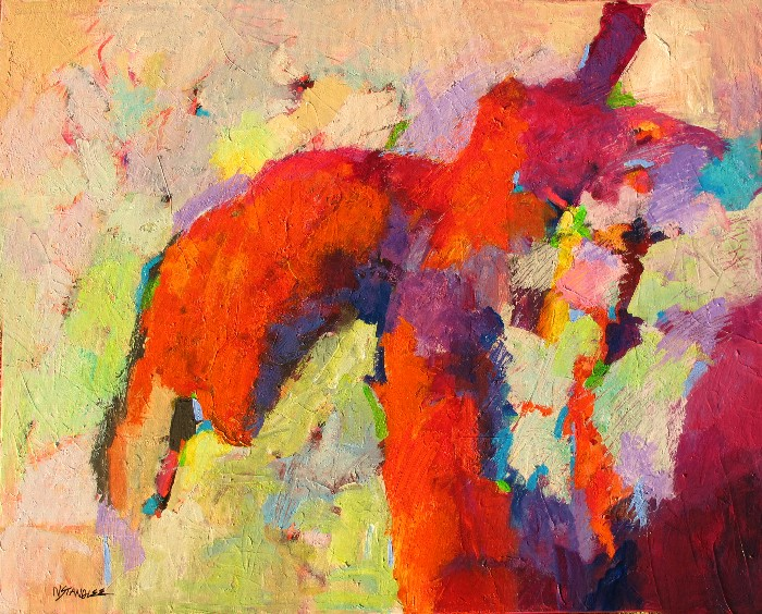 Abstract Figure Collages Abstract Red Figure by