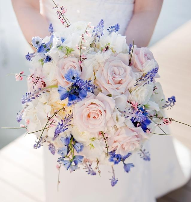 Pink Blue And White Wedding Bouquets : Celebration florals chapel designers present another
