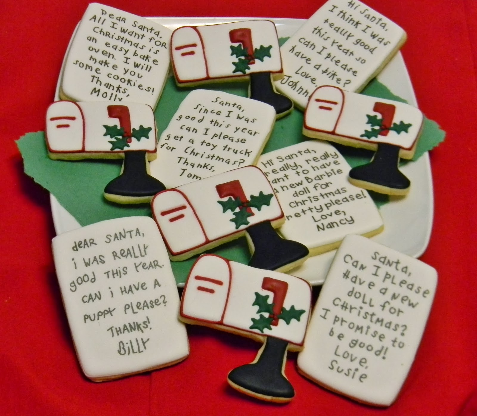 Sweet Melissa S Cookies Letters To Santa Cookies