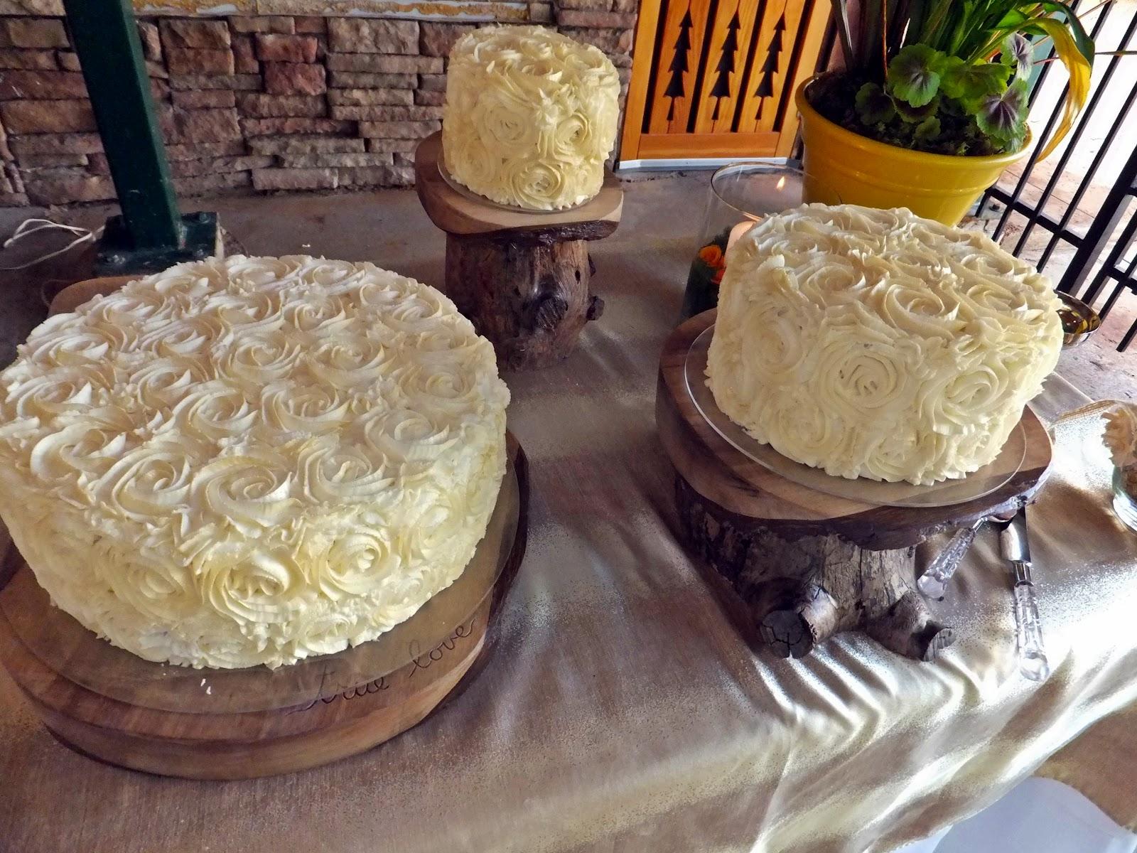 padicakes Rustic Mountain Wedding Cake