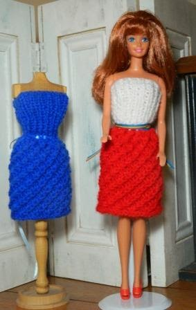 Dressing Our Dolls Barbie Dress Knitting Free Pattern