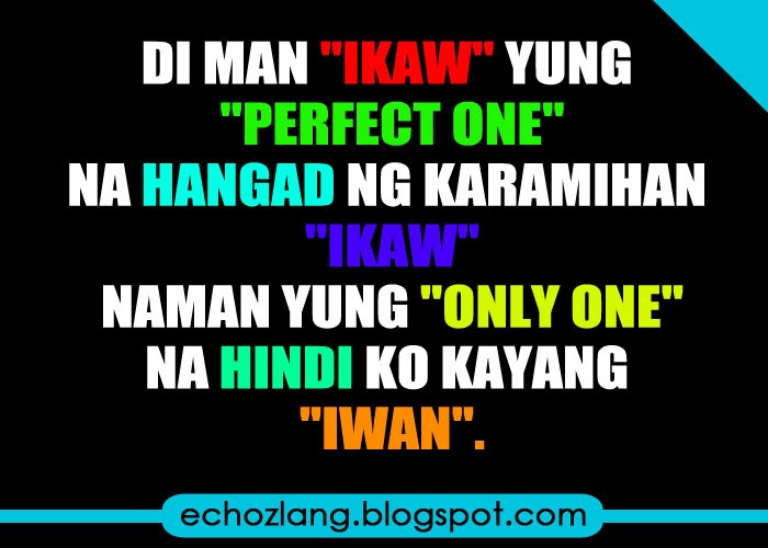 Ikaw ang only one na hindi ko kayang iwan
