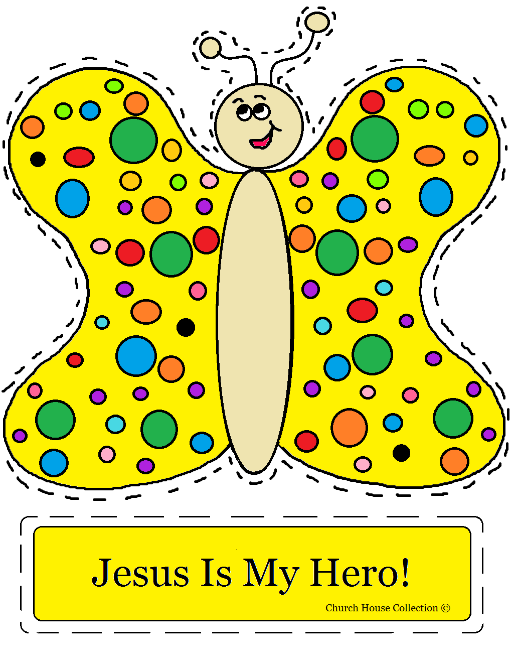 Church house collection blog jesus is my hero butterfly for Childrens sunday school crafts
