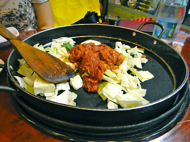 Fallin' in love with chicken galbi at Yoogane
