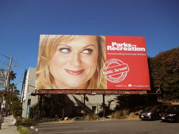 Parks and Recreation Public Servant 2014 Emmy billboard