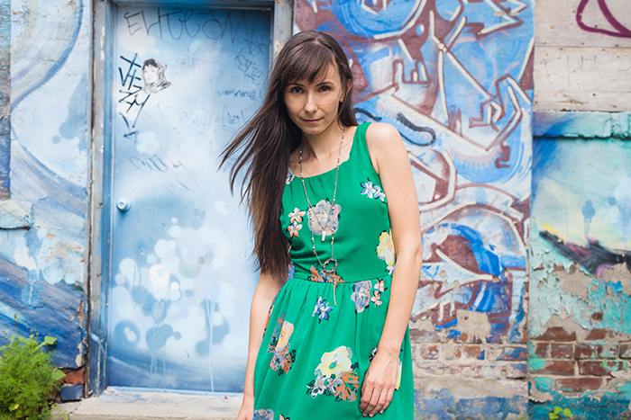 Green-fit-and-flare-dress-womens-fashion