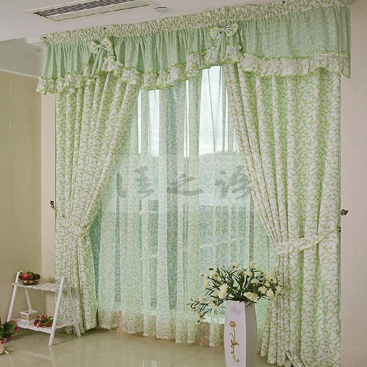 Turquoise And Gray Curtains Window Treatment for