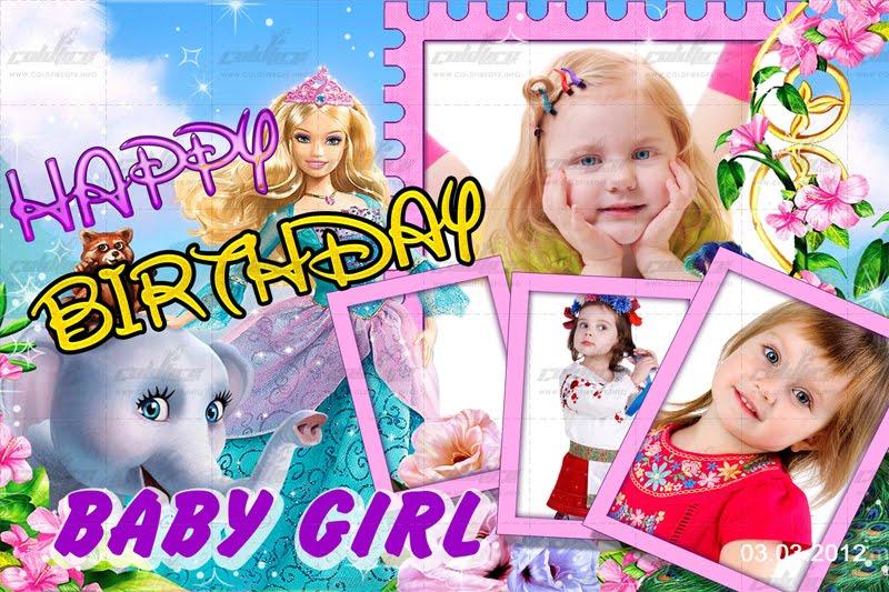 Barbie Birthday PSD Template