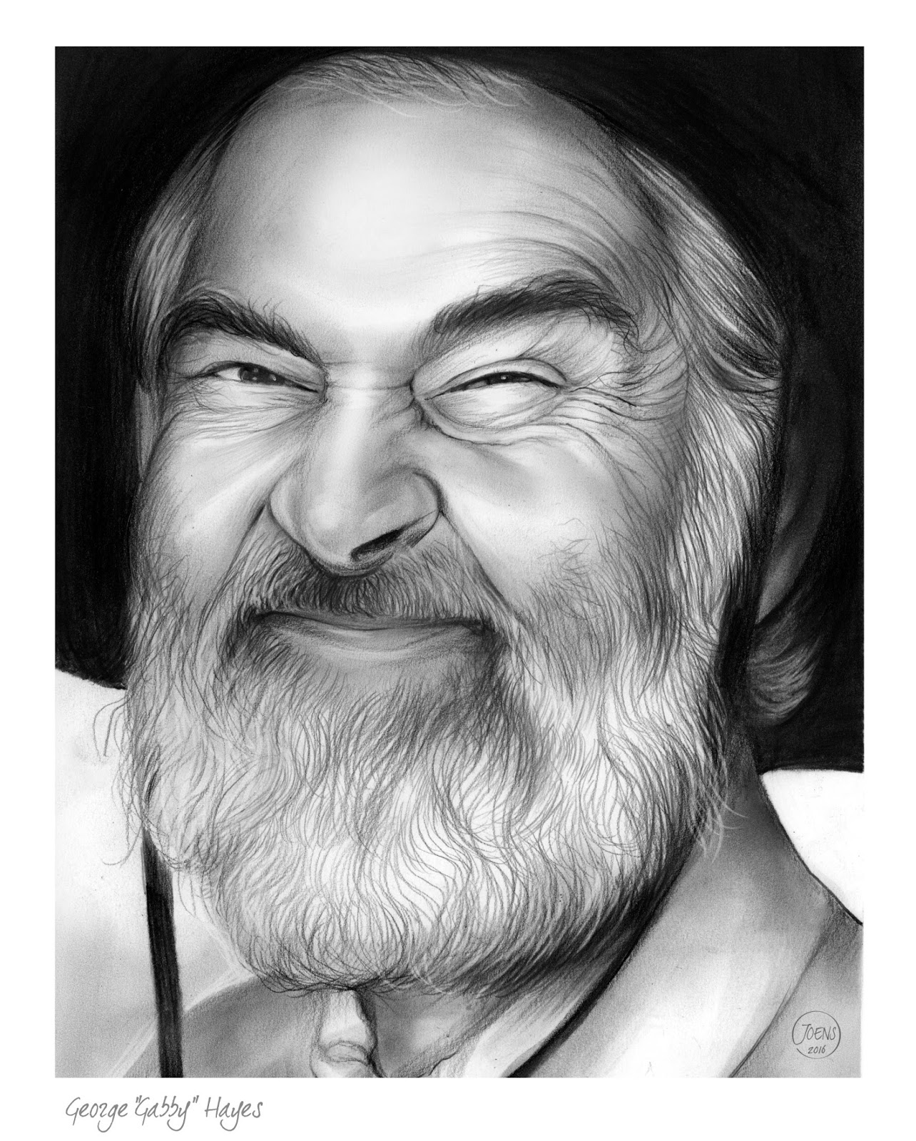 Sketch of the day january 2016 for Gabby hayes