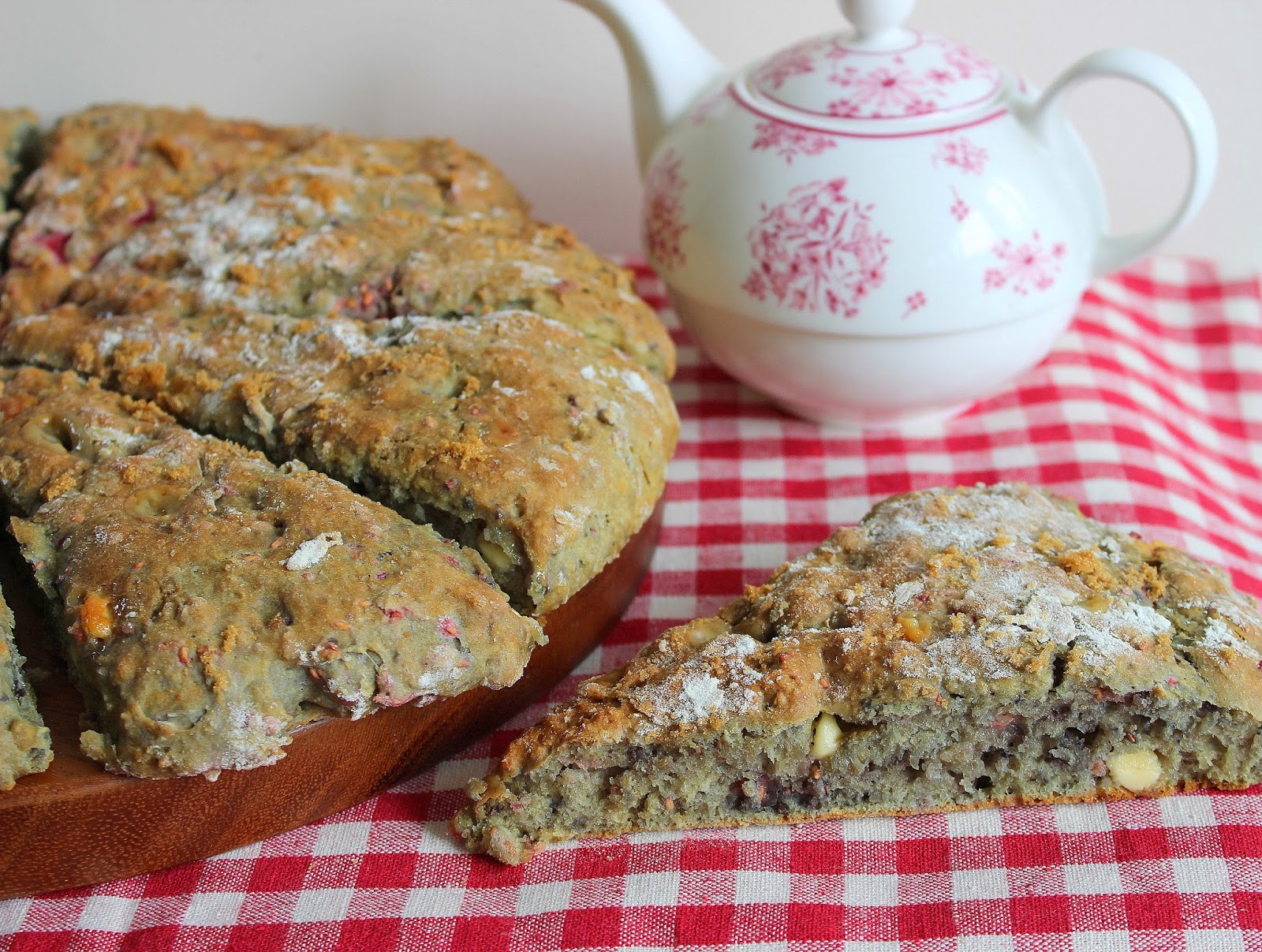 Sweet scones make a great breakfast or a snack with a nice cup of tea ...