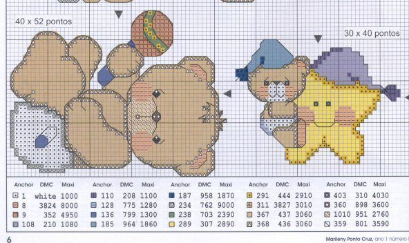 Motivos punto de cruz toallas bebé - Imagui