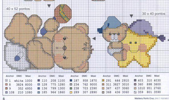 Graficos punto de cruz gratis bebés - Imagui