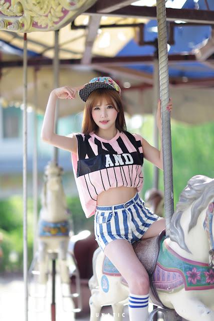 3 Han Ga Eun - Outdoors Photo Shoot At Yongma Land - very cute asian girl-girlcute4u.blogspot.com