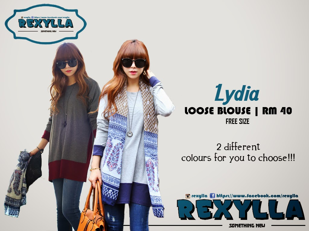 rexylla, loose blouse, casual long loose blouse, lydia collection