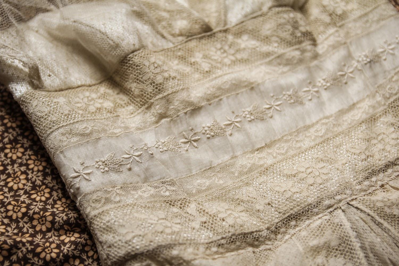 My antique lace wedding dress - Normandy Lace