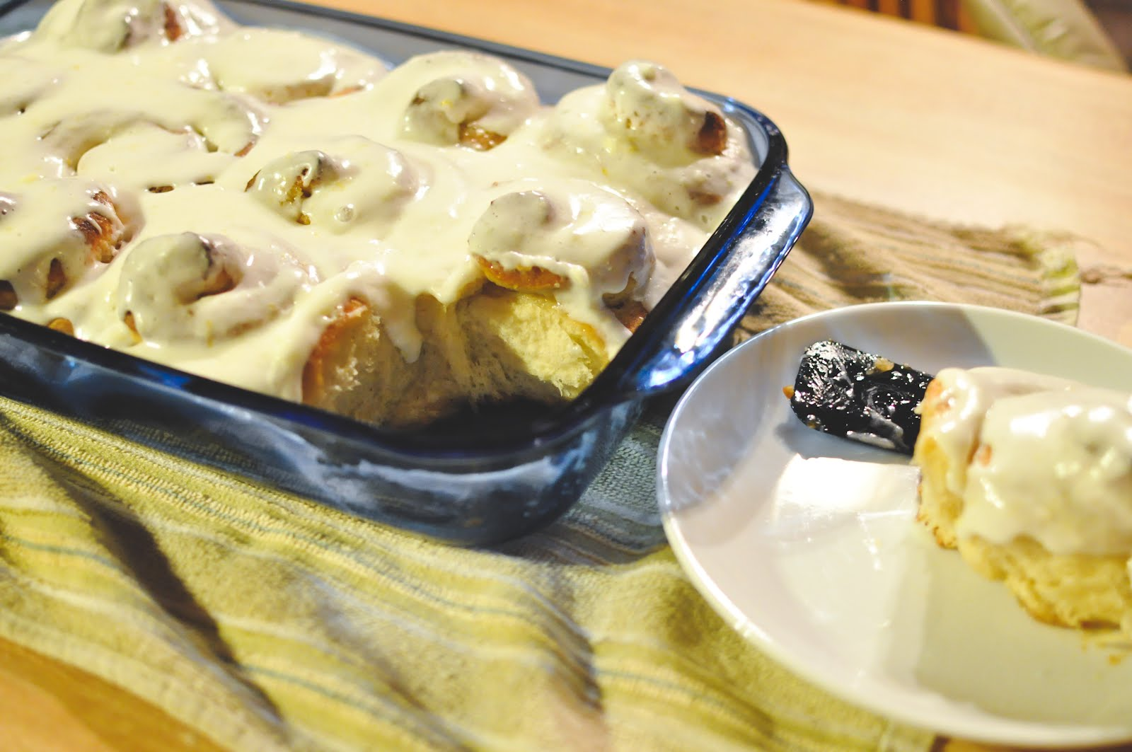 Bless This Food: Sticky Lemon Rolls with Lemon Cream Cheese Glaze