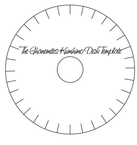My 32 Slot Kumihimo Disk Template | Jennifer Al-Ghanem