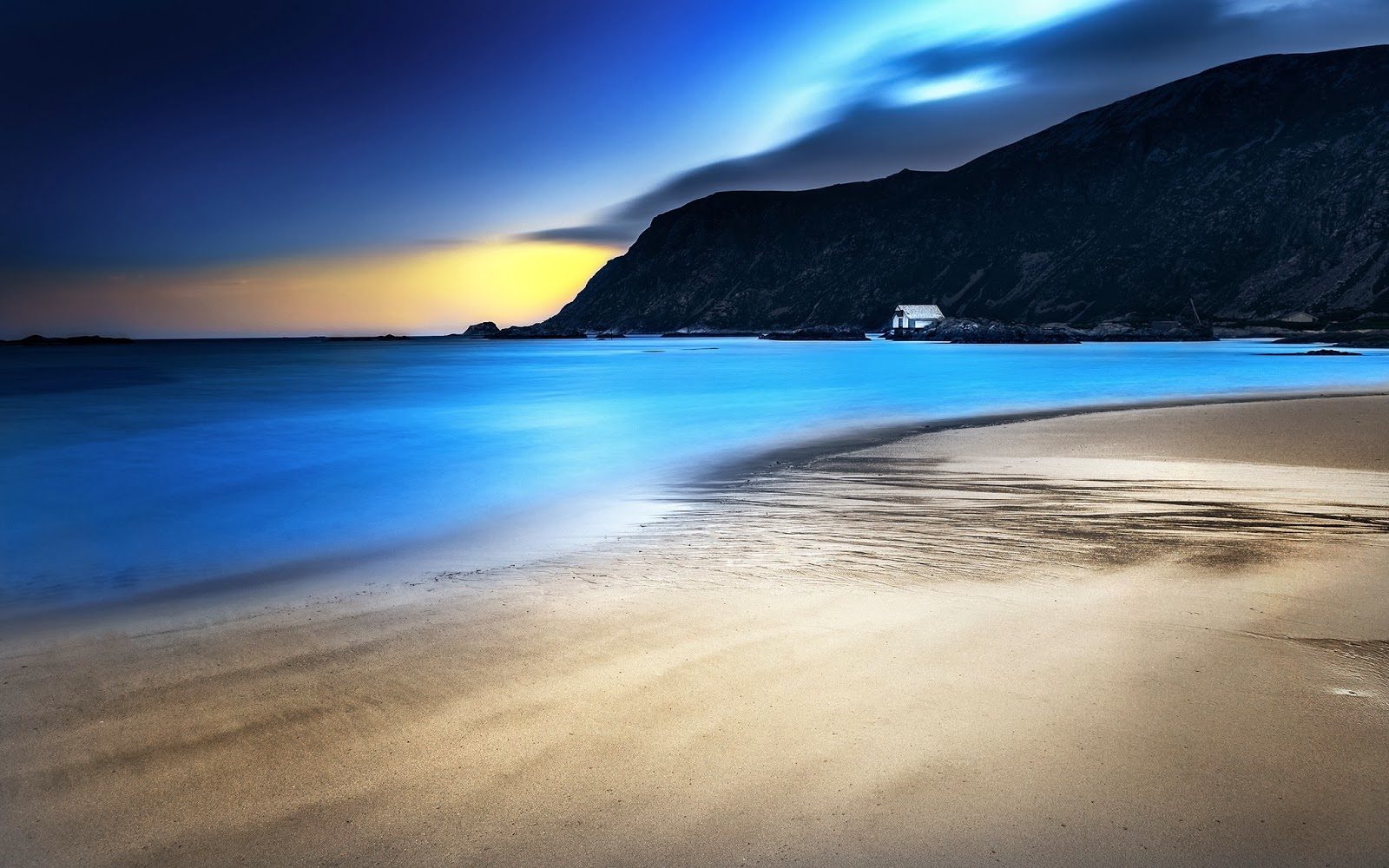 Blue Night Beach Beautiful Nature Images And Wallpapers