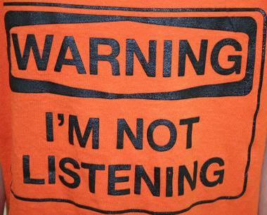 WARNING I M NOT LISTENING