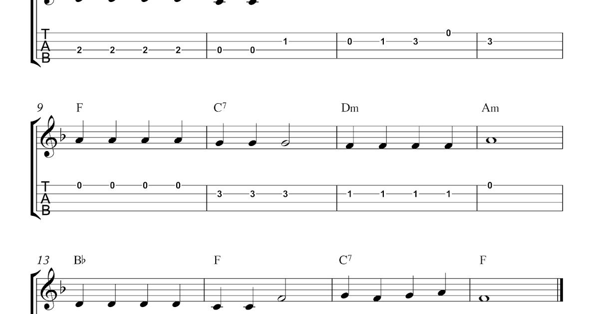 Jolly Old St. Nicholas - Free Christmas ukulele tab sheet music