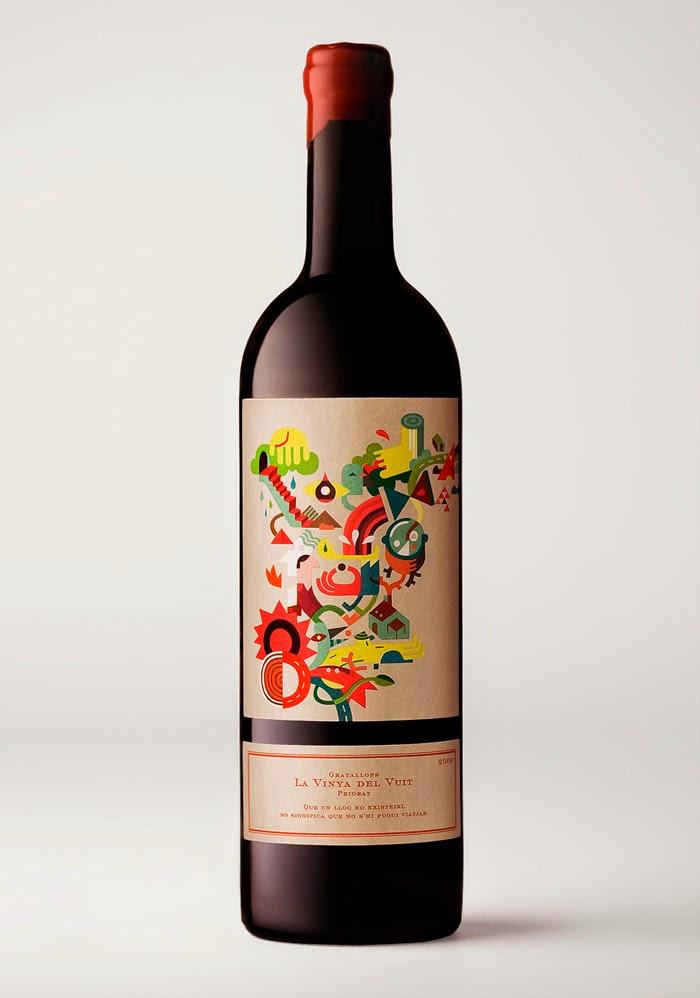 vino rosso priorat etichette design packaging grafica colore, arte