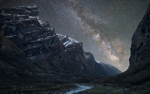 La vía láctea sobre el Himalaya - Milky Way above the Himalayas by Anton Jankovoy