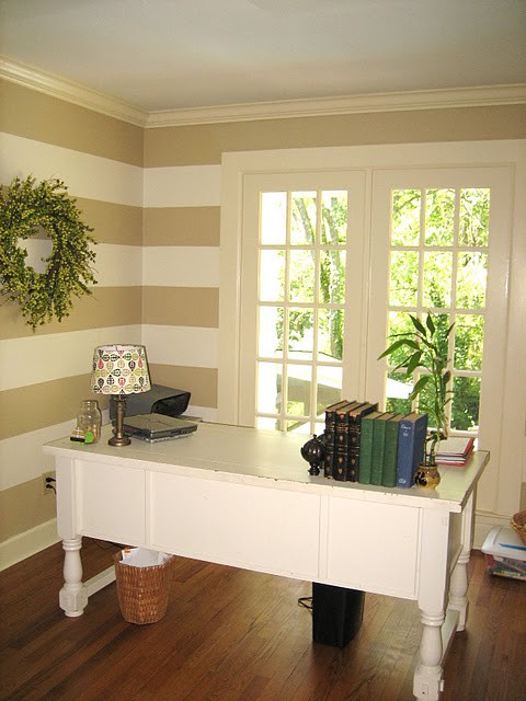 Joyce Pickens: Champagne/Taupe Striped Walls