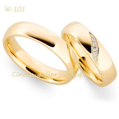 cincin kawin emas kuning 18 karad masing-masing 5 grm