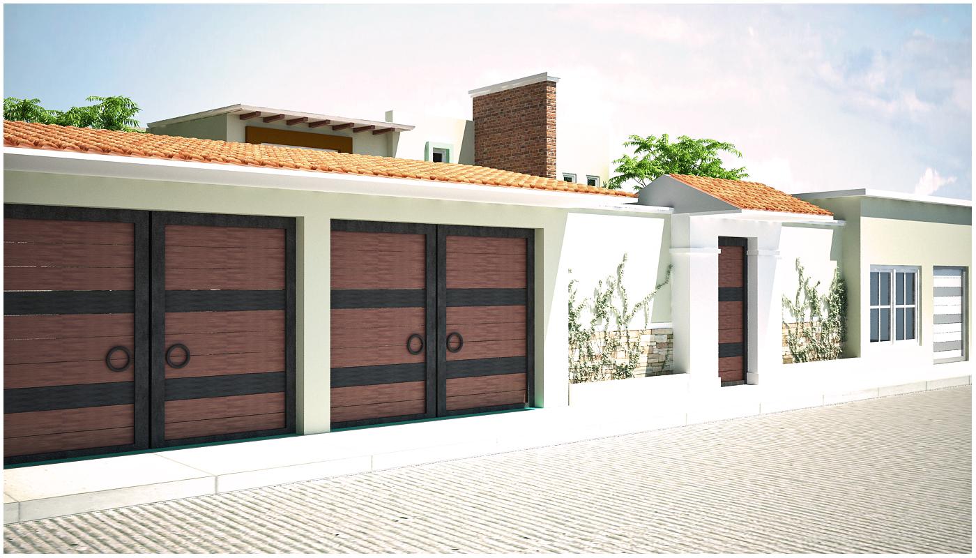 Proyectos arquitectonicos y dise o 3 d casa de campo for Fachadas de casas modernas con zaguan