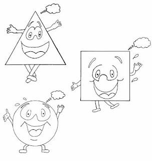 Figuras Geometricas Para Colorear Ni  Os De Preescolar