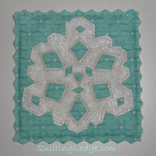Quilting Lodge Snowflake Coaster