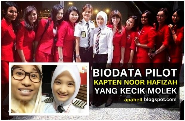 Biodata Pilot AirAsia Kecik Molek Noor Hafizah (10 Gambar)
