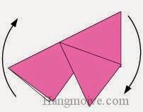 Bước 5: Xoay miếng giấy để nằm ngang.