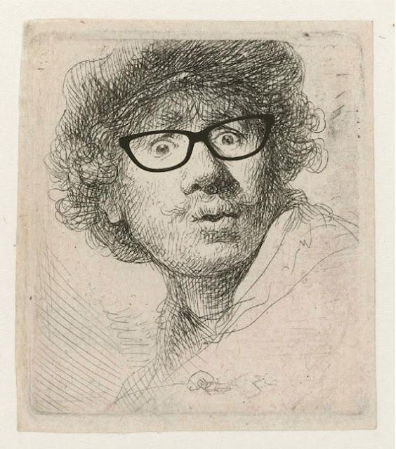 Hipster Rembrandt self portrait