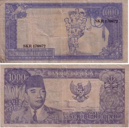 Uang Kertas 1.000 Rupiah 1954