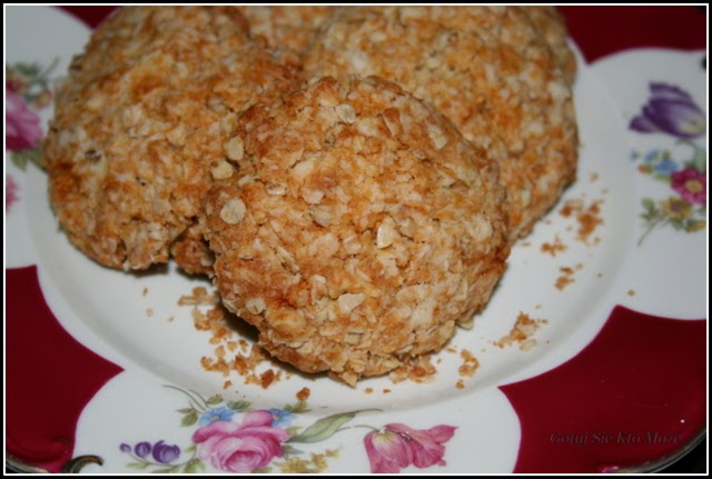 Owsiane ciasteczka kokosowe